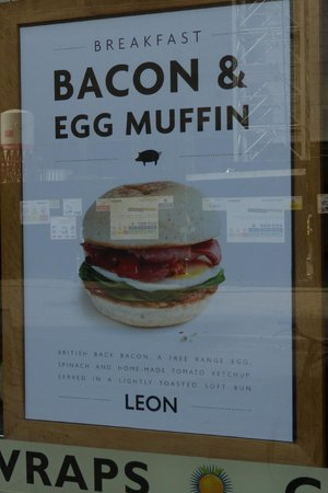 Leon - Bankside : Leon - morning breakfast mcmuffins