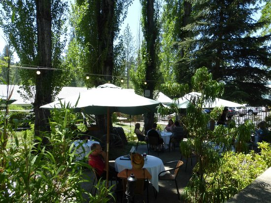 Murphy's Hotel: Shaded outdoor dining