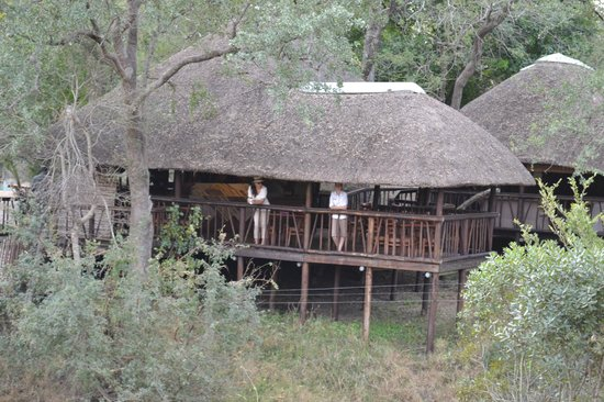 Idube Game Reserve Lodge: The lower dining area... Idube 2014
