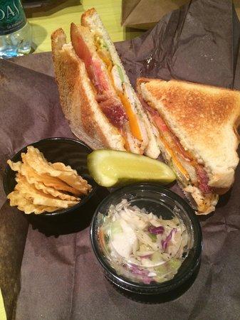 Squish Sandwich Cellar: Triple decker sandwich is amazing!!