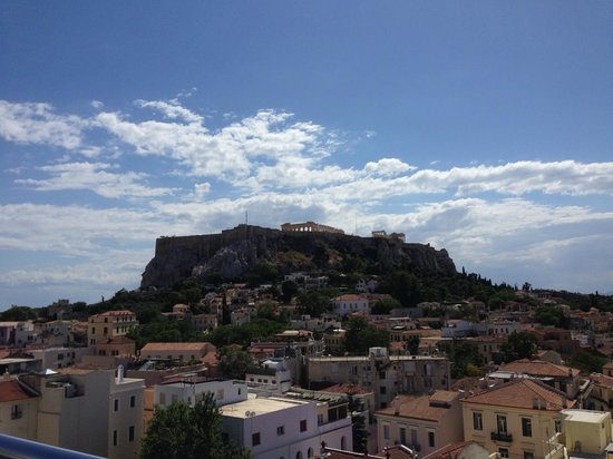 Central Athens Hotel : View from rooftop lounge