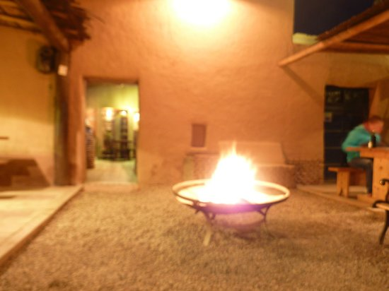 Adobe: Enjoying the Fire Pit on a chilly winters night