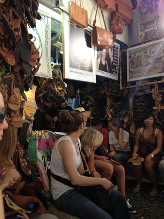 Melissinos Art -The Poet Sandal Maker : Everyone waiting patiently