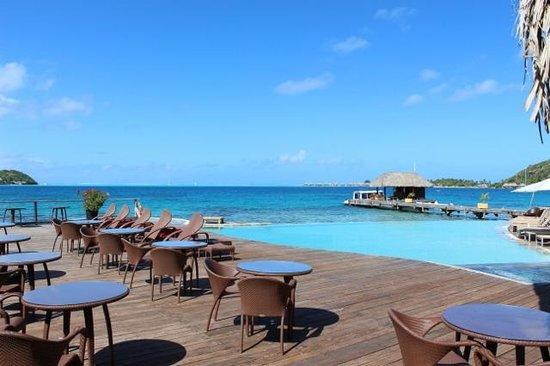 Sofitel Bora Bora Marara Beach Resort: from the restaurant