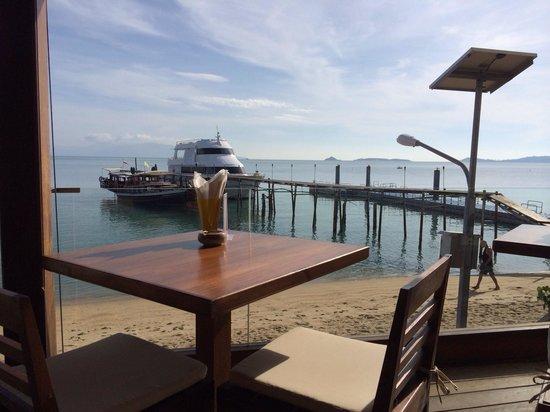 Enjoy Beach Hotel : Breakfast view!
