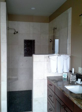 Columbia Cliff Villas Hotel: Large shower