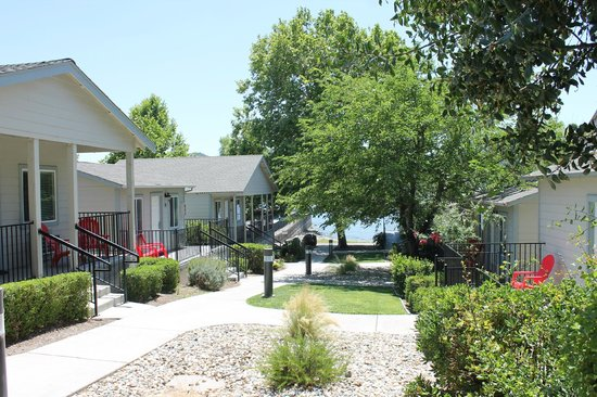 Clear Lake Cottages & Marina : View from the outside of the room to the lake