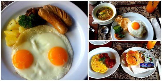 Tonys Villas & Resort: The breakfast set selections