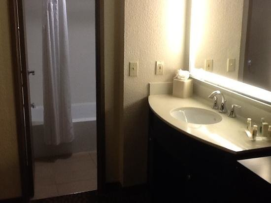 "Holiday Inn & Suites Phoenix Airport North : nice lighted mirror and clean ""water closet"""