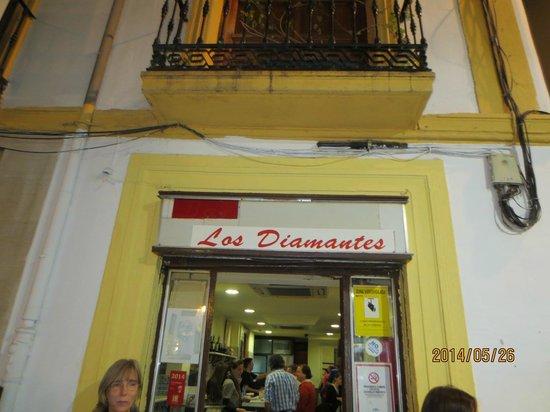 Bar Los Diamantes: 店の入口