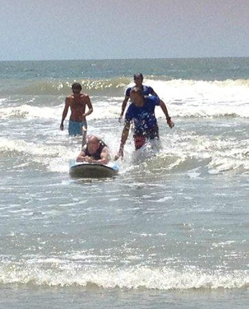 Charleston Surf Lessons: Solo ride