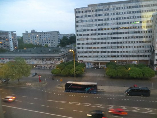 ONE80° Hostels Berlin: View from our room across Otto-Braun-Strasse