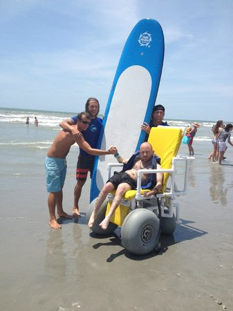 Charleston Surf Lessons: Posing after the ride