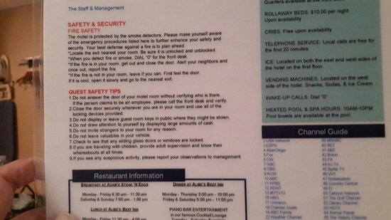 "Travelodge San Diego Mission Valley: ""Guest safety tips"""