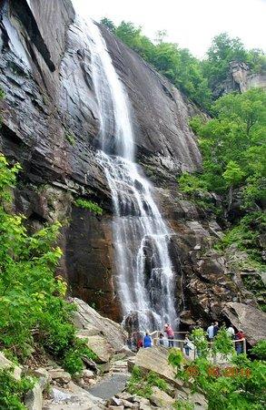 Chimney Rock State Park: Tall, beautiful waterfall!
