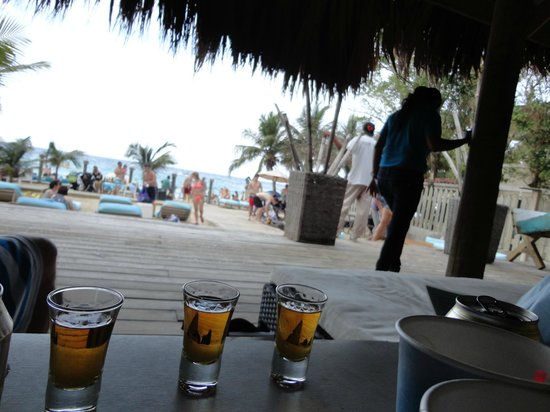 Mayan Princess Beach & Dive Resort: Overlooking the beach area