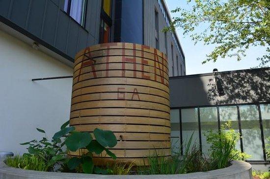 Hotel Indigo Athens-University area: Rain barrel in the patio