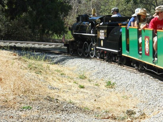 """Billy Jones Wildcat Railroad: View of the """"Two Spot"""" from the back seats"""