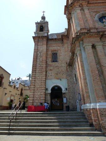 La Iglesia de Nuestra Senora de Guadalupe: From the Street Walking Up to Church