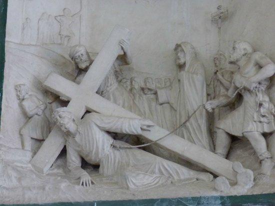 La Iglesia de Nuestra Senora de Guadalupe: Bas-relief Marker at Station of the Cross