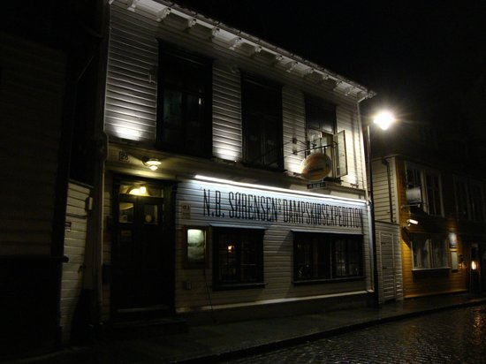 N.B. Sorensens Dampskibsexpedition: The rear entrance of the restaurant.