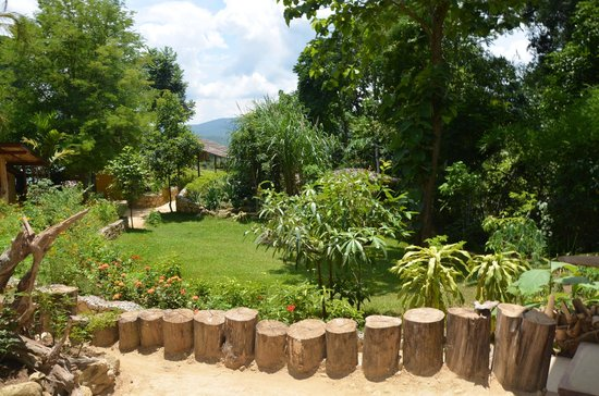 Kuang Si Falls Butterfly Park : Une partie du jardin