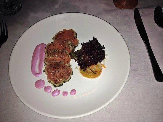 Le Jaenzan Restaurant: TARTARE DE THON, MAYONNAISE LOVINA JAENZAN