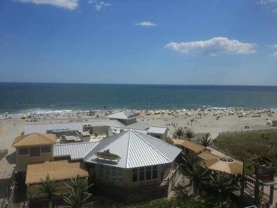 Resorts Casino Hotel: View of LandShark Bar and Grill from hotel rooftop pool