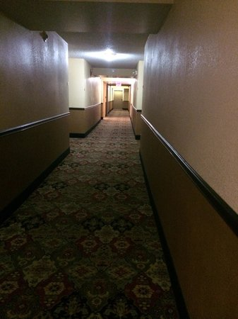 Rodeway Inn & Suites West Knoxville: Dimly lit and hot hallway