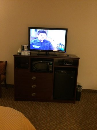 Rodeway Inn & Suites West Knoxville : Microwave, fridge, TV