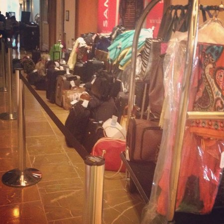 Omni Fort Worth Hotel: only half of the luggage waiting for a room