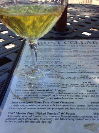 Poalillo Vineyards: The tasting menu and a glass of Sauvignon blanc port