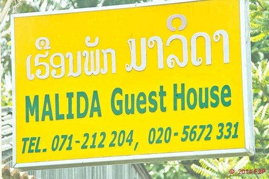 Malida Guesthouse: Schild an der Strasse