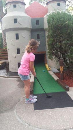 Castle Golf: The biggest excitement was the castle hole, go figure :p
