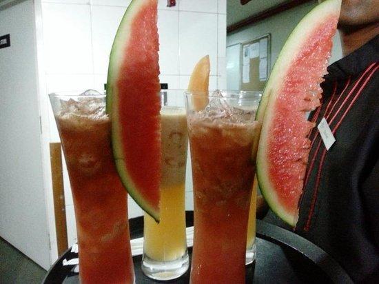 Crowne Plaza Pune City Centre: Lovely juices