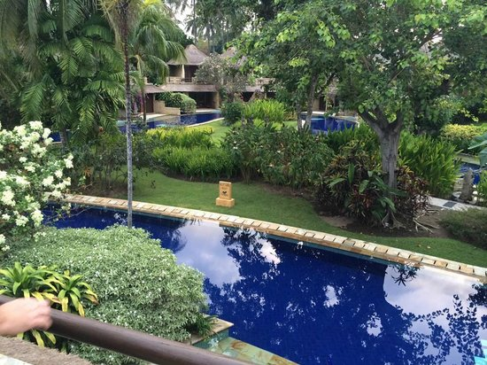 Pool Villa Club Senggigi Beach Lombok: view from upstairs balcony