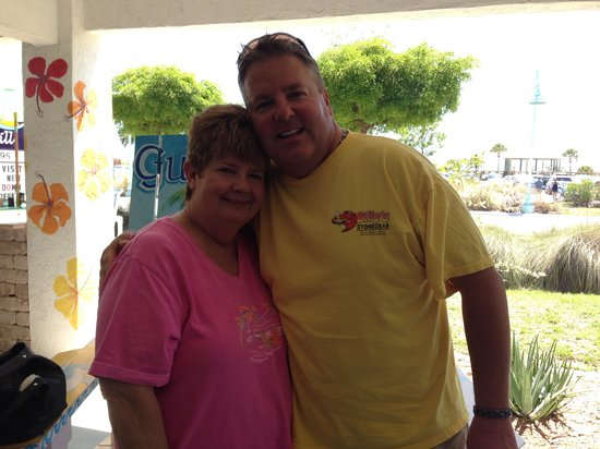 Gulf View Grill: My Sweet Aunt Carol and I 6-8-14.