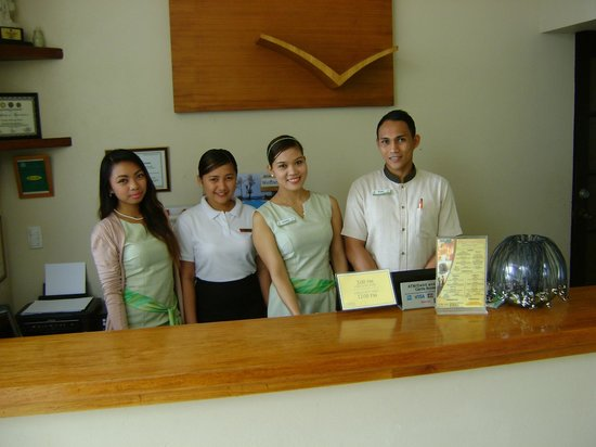 7Stones Boracay Suites : The Front Desk Staff