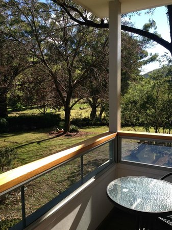 Glenburn House: View from one end of the verandah