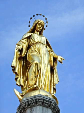 Holy Mary Monument on a clear day