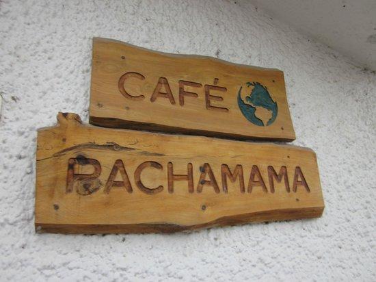 La Posada del Quinde: Restaurant sign