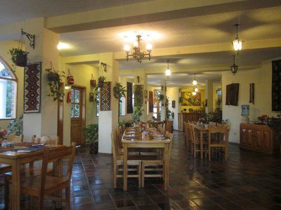 La Posada del Quinde: Restaurant/lobby