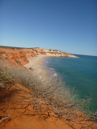Shark Bay: Peron Peninsula showing the red desert sand meeting the ocean. A pristine and spectacular area.