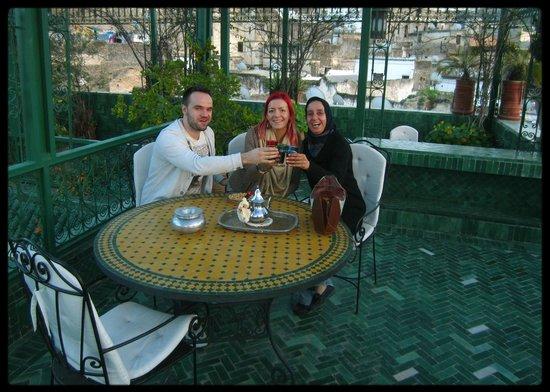 Riad La Maison Verte : With the friendly staff :)