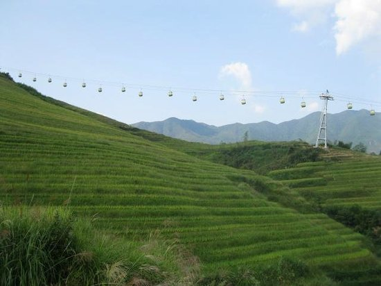 Longsheng County, Chiny: ロープウェイ