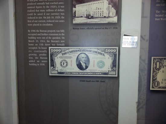 Bureau of Engraving and Printing: 1 million in 10 dollar bills