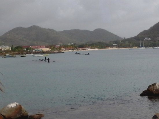 Bay Guesthouse : View of Rodney bay and Reduit Beach