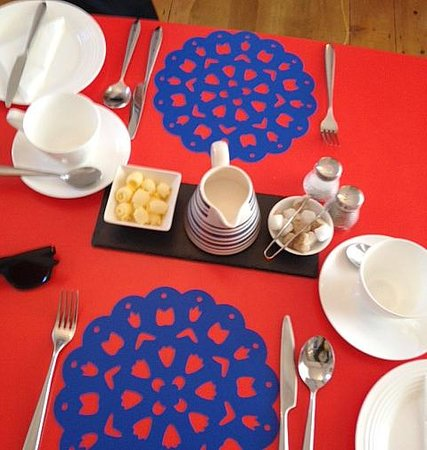 3 Porthminster: Pretty, modern breakfast table