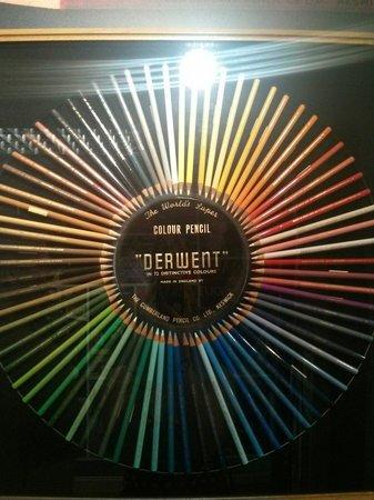 Derwent Pencil Museum: Derwent colour circle