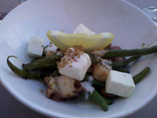 Kasbah Soul Kitchen: Antipasto: insalata di polpo con salsa allo yogurt e fagiolini